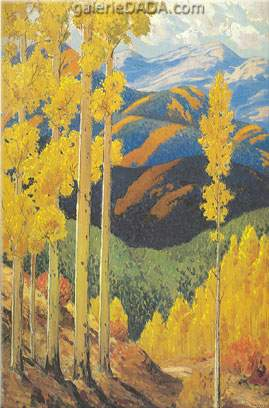 Sheldon Parsons, Santa Fe Mountains in October Fine Art Reproduction Oil Painting
