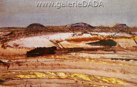 Sidney Nolan, Central Australian Landscape Fine Art Reproduction Oil Painting
