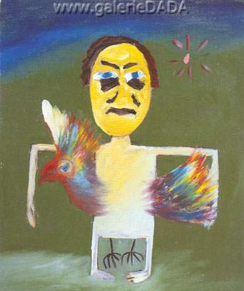 Sidney Nolan, Man and Parrot Fine Art Reproduction Oil Painting