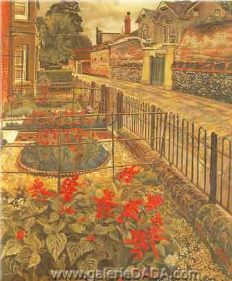 Stanley Spencer, Gardens in the Pound Cookham Fine Art Reproduction Oil Painting