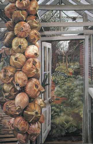Stanley Spencer, Greenhouse and Garden Fine Art Reproduction Oil Painting