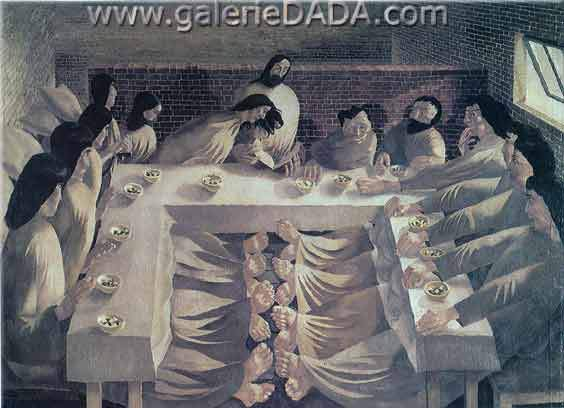 Stanley Spencer, The Last Supper Fine Art Reproduction Oil Painting