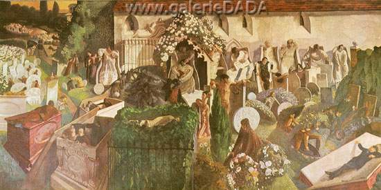 Stanley Spencer, The Resurrection of Cookham Fine Art Reproduction Oil Painting