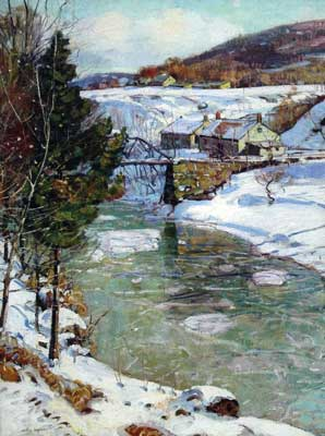 George Gardner Symons,  Icy Winter Fine Art Reproduction Oil Painting