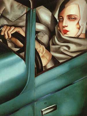 Tamara de Lempicka, Autoportrait Fine Art Reproduction Oil Painting