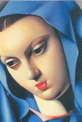 Tamara de Lempicka, The Blue Virgin Fine Art Reproduction Oil Painting