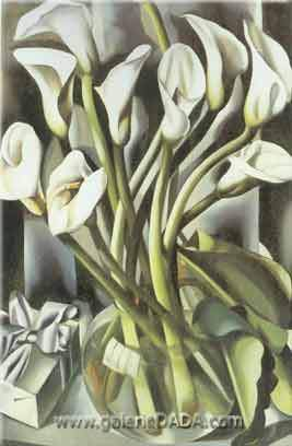 Tamara de Lempicka, Calla Lily Fine Art Reproduction Oil Painting