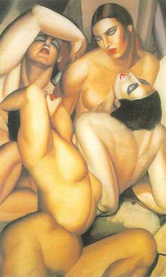 Tamara de Lempicka, Group of Four Nudes Fine Art Reproduction Oil Painting