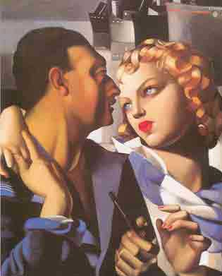 Tamara de Lempicka, Idyll Fine Art Reproduction Oil Painting