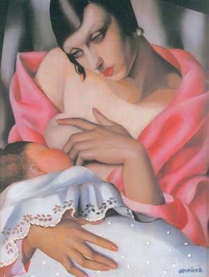 Tamara de Lempicka, Maternity Fine Art Reproduction Oil Painting