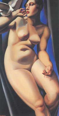 Tamara de Lempicka, Nude with Dove Fine Art Reproduction Oil Painting