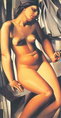 Tamara de Lempicka, Nude with Sailboats Fine Art Reproduction Oil Painting
