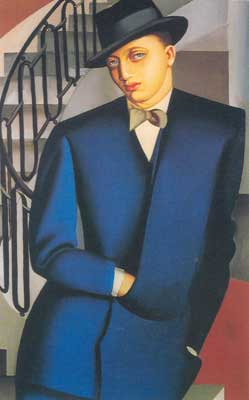 Tamara de Lempicka, Portrait of Marquis d Afflito Fine Art Reproduction Oil Painting