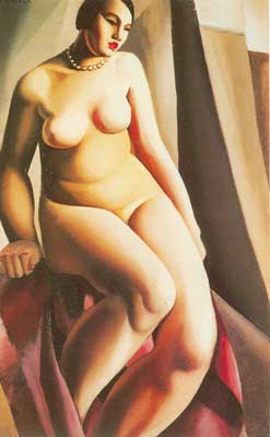 Seated Nude - Tamara de Tamara de, Fine Art Reproduction Oil Painting