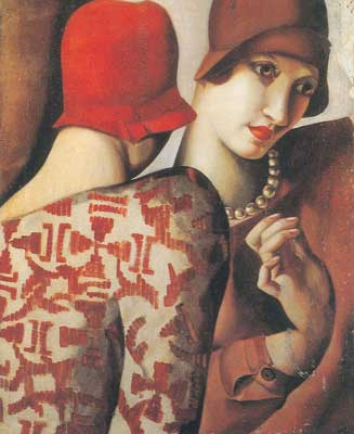 Tamara de Lempicka, Sharing Secrets Fine Art Reproduction Oil Painting