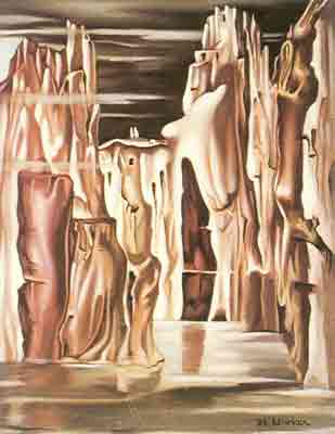 Tamara de Lempicka, Surrealist Landscape Fine Art Reproduction Oil Painting