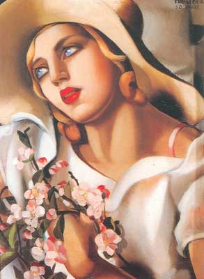 Tamara de Lempicka, The Straw Hat Fine Art Reproduction Oil Painting