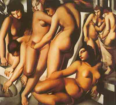 Tamara de Lempicka, Women Bathing Fine Art Reproduction Oil Painting