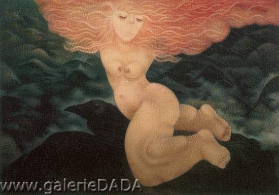 Tilsa Tsuchiya, Myth of the Woman and the Wind Fine Art Reproduction Oil Painting