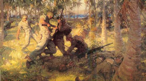 Tom Lovell, Battle of Tenaru River Fine Art Reproduction Oil Painting