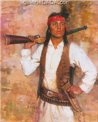 Tom Lovell, Chiricahua Scout Fine Art Reproduction Oil Painting