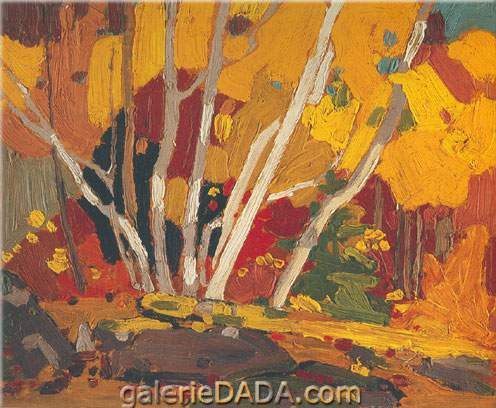 Tom Thomson, Autumn Birches Fine Art Reproduction Oil Painting