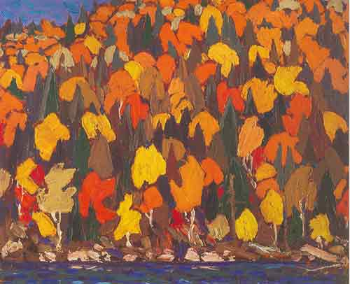 Tom Thomson, Autumns Garland Fine Art Reproduction Oil Painting