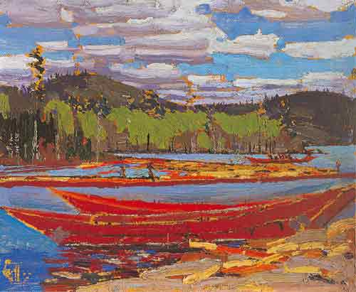 Tom Thomson, Bateaux Summer Fine Art Reproduction Oil Painting