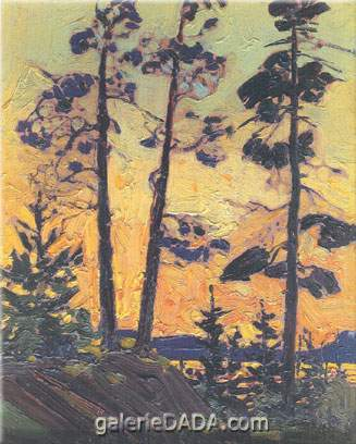 Tom Thomson, Pine Trees at Sunset Fine Art Reproduction Oil Painting