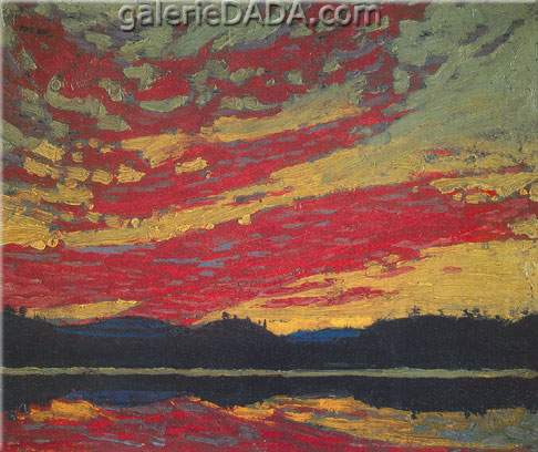 Tom Thomson, Sunset Fine Art Reproduction Oil Painting