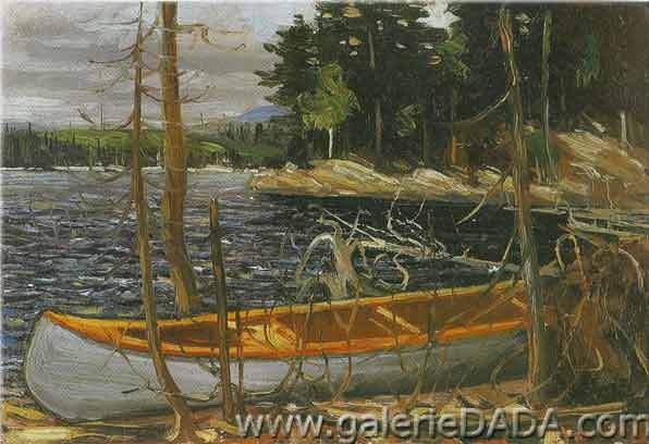 Tom Thomson, The Canoe Fine Art Reproduction Oil Painting