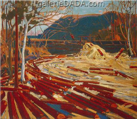 Tom Thomson, The Drive Fine Art Reproduction Oil Painting