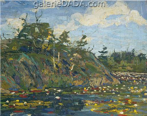 Tom Thomson, The Lily Pond Fine Art Reproduction Oil Painting