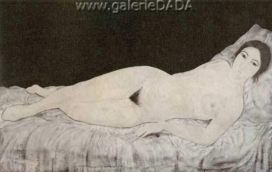 Tsuguharu Foujita, Nude Fine Art Reproduction Oil Painting