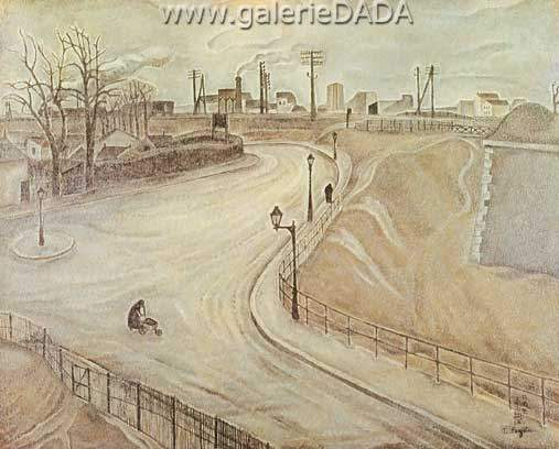 Tsuguharu Foujita, Parisian Landscape Fine Art Reproduction Oil Painting