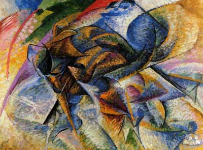 Umberto Boccioni, Dynamism of a Biker Fine Art Reproduction Oil Painting