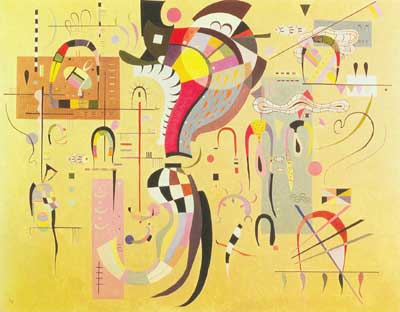Vasilii Kandinsky, Accompanied Centre Fine Art Reproduction Oil Painting