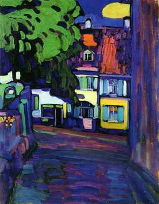 Vasilii Kandinsky, Houses in Murnau on Obermark Fine Art Reproduction Oil Painting