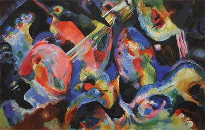 Vasilii Kandinsky, Improvisation. Deluge Fine Art Reproduction Oil Painting