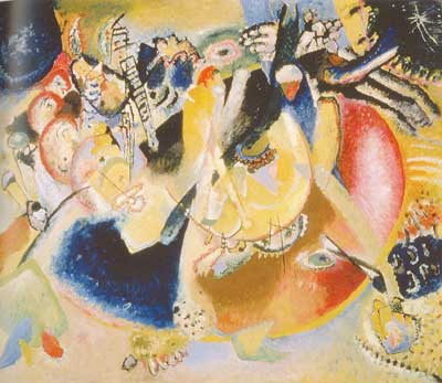 Vasilii Kandinsky, Improvisation of Cold Forms Fine Art Reproduction Oil Painting