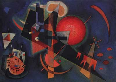 Vasilii Kandinsky, In Blue Fine Art Reproduction Oil Painting