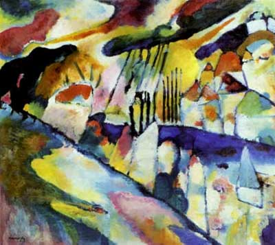 Vasilii Kandinsky, Landscape with Rain Fine Art Reproduction Oil Painting