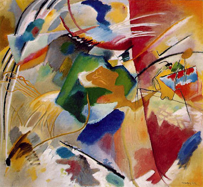 Vasilii Kandinsky, Painting with Green Center Fine Art Reproduction Oil Painting