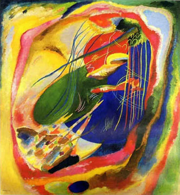 Vasilii Kandinsky, Painting with Three Spots Fine Art Reproduction Oil Painting
