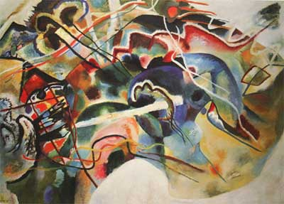 Vasilii Kandinsky, Picture With A White Border Fine Art Reproduction Oil Painting
