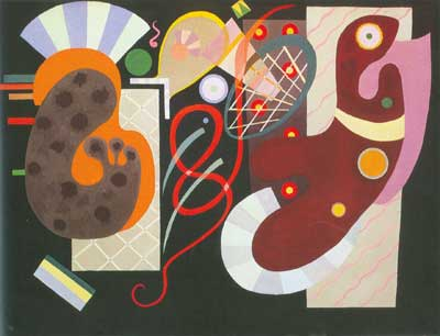 Vasilii Kandinsky, Red Knot Fine Art Reproduction Oil Painting