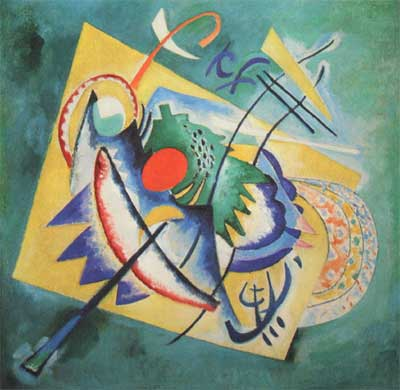 Vasilii Kandinsky, Red Oval Fine Art Reproduction Oil Painting