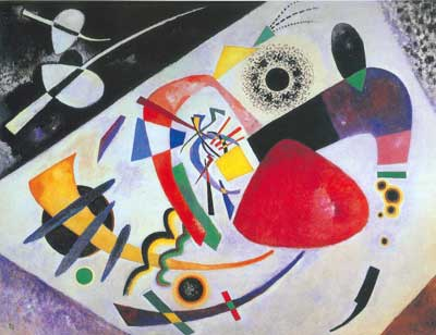 Vasilii Kandinsky, Red Spot II Fine Art Reproduction Oil Painting