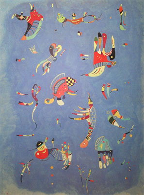 Vasilii Kandinsky, Sky Blue Fine Art Reproduction Oil Painting