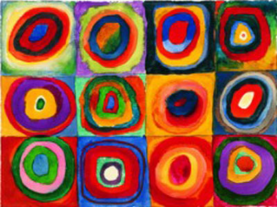 Vasilii Kandinsky, Squares with Concentric Circles Fine Art Reproduction Oil Painting